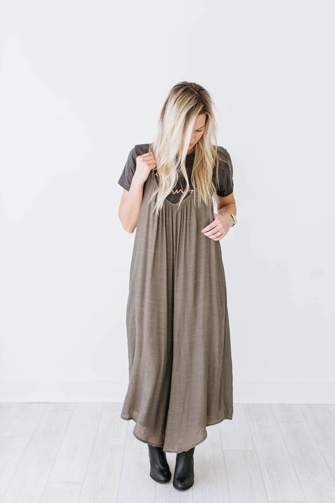 Whitney Jumpsuit - Olive