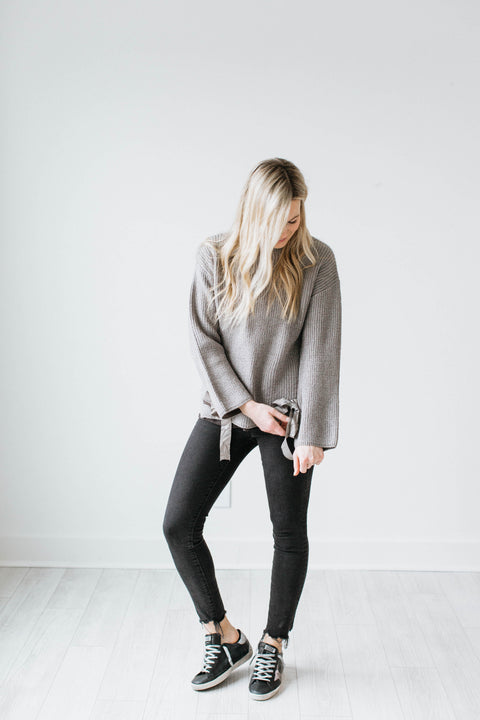 Silver Lining Sweater - Heather Grey