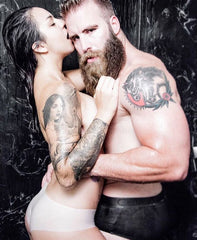 Bearded man sex with woman