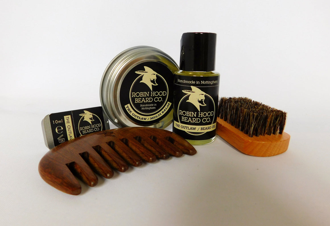 The Outlaw Deluxe Beard Grooming Kit - Robin Hood Beard Company