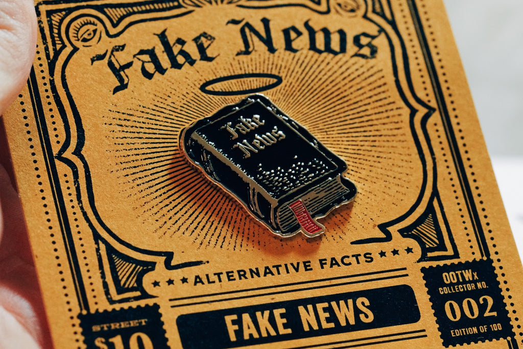 Fake News Enamel Pin