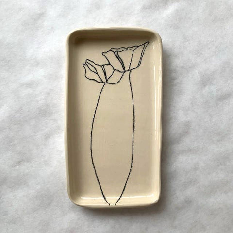 Poppy Ceramic Tray