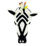 Rufus the Rainbow Zebra Head