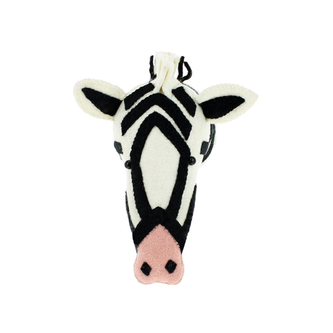 Poppy the Pink Nose Zebra Head