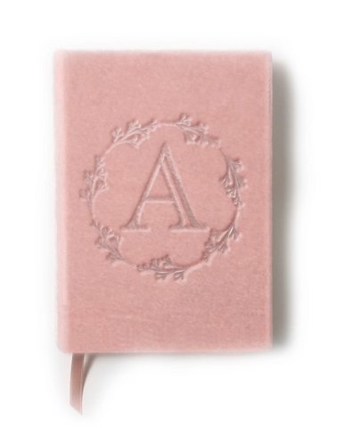 Velvet Silk Handmade Monogrammed Journal