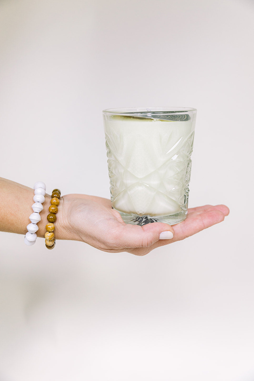 Mojito Vintage Glass Candle by Rewined