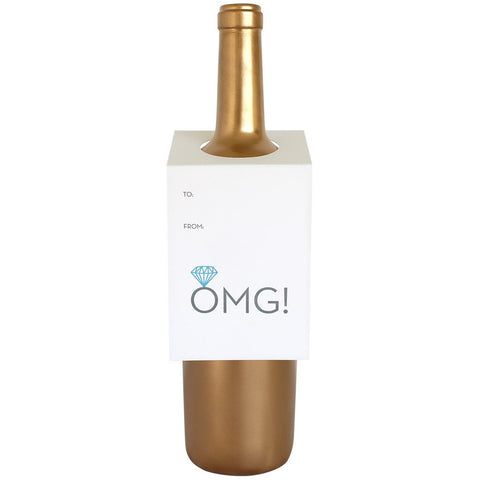 OMG! You're Engaged Diamond Wine Tag