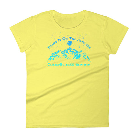 CRESTED BUTTE, CO 8909' Ladies' BIOTA T Shirt