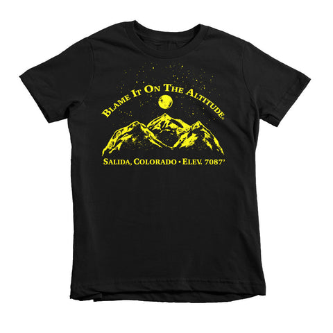 Young Person 2-6 year old T-Shirt Salida, CO Blame It On The Altitude ELEV. 7087'