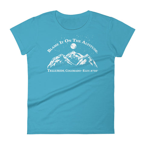 TELLURIDE, CO 8750' Ladies' BIOTA T Shirt