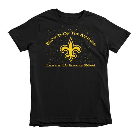 "Young Person BIOTA T-Shirt Lafayette, LA Elev. 36' ""Blame It On The Altitude""(LOW)"