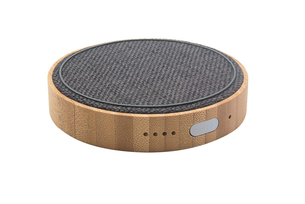 Kensington Pad - iPhone/QI Wireless & Portable Charger, (Bamboo + Charcoal Grey Fabric)