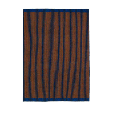 LOOP RUG #04 Blue brown blue