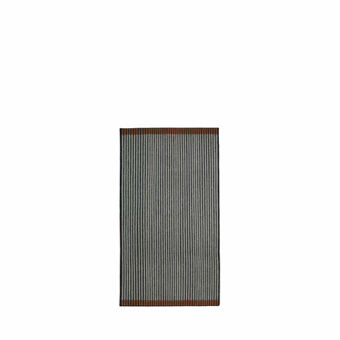 Handwoven Loop rug in black, grey and brown made of 100% Wool