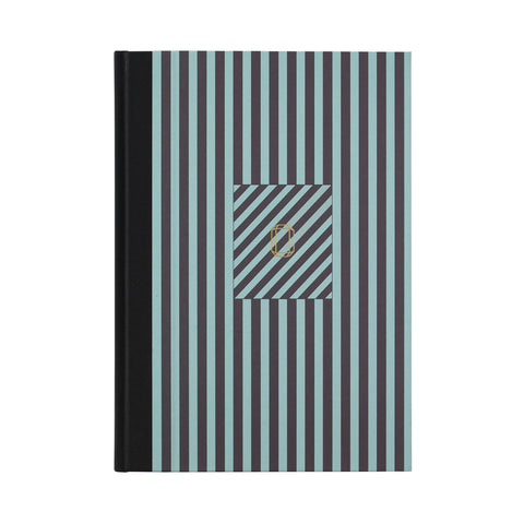 Note Book Stripes light green/purple