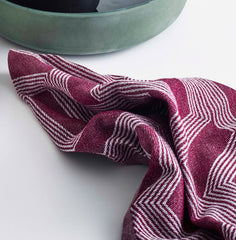 Organic tea towel port bordeaux