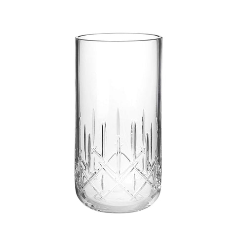 Crystal glass vase.