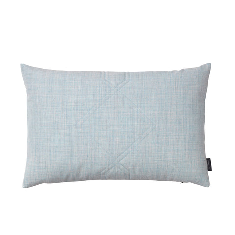 Diamond quilted cushion in the color remix light blue.