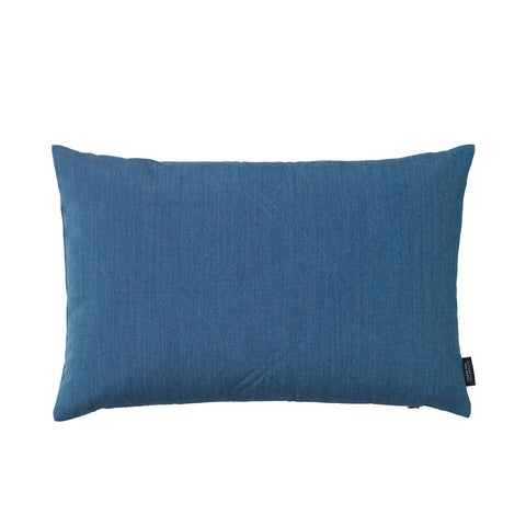 Cotton velvet cushion in remix blue.