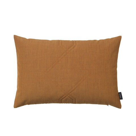 Cotton velvet cushion in the color remix brass brown.