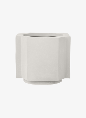 FUNKI POT Medium Plaster White
