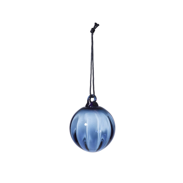 Mouth Blown Glass Ball Blue