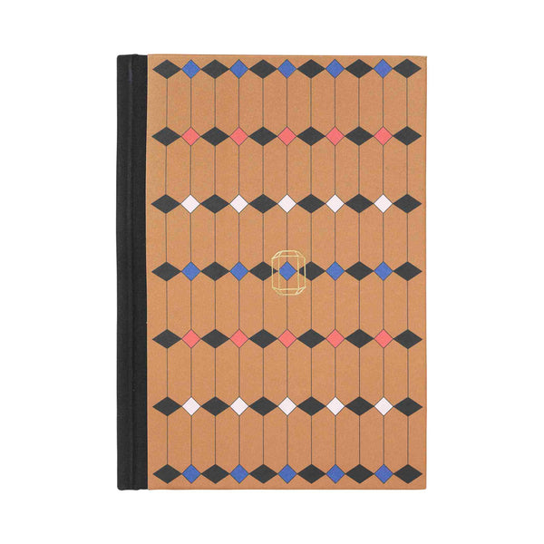 Note Book Jewel Print brass brown