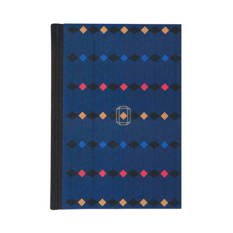 Note Book Jewel Print dark blue