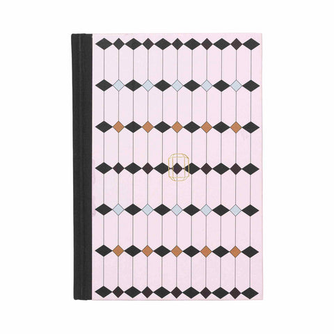 Note Book Jewel Print rose pink