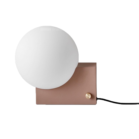Table and wall lamp from &tradition, designed by Signe Hytte.
