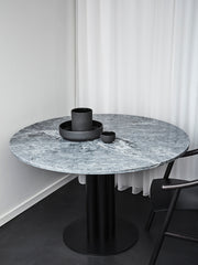 Roundabout Table Grey Marble Ø120