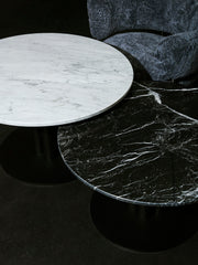 Roundabout Lounge Table White Marble Ø90/H50