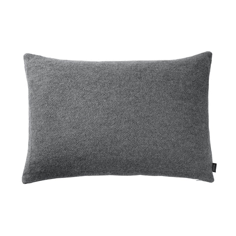 Pique cushion grey