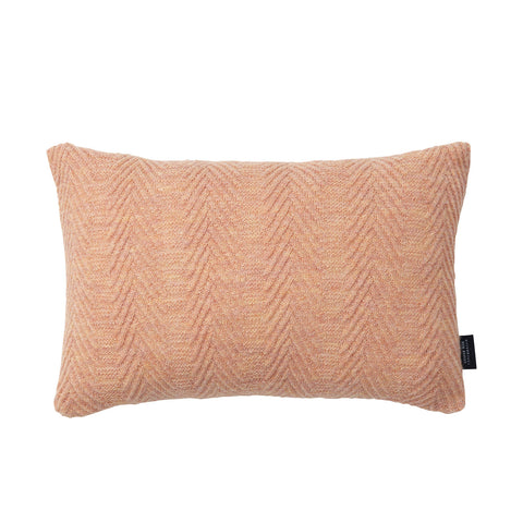 Herringbone cushion pearl peach