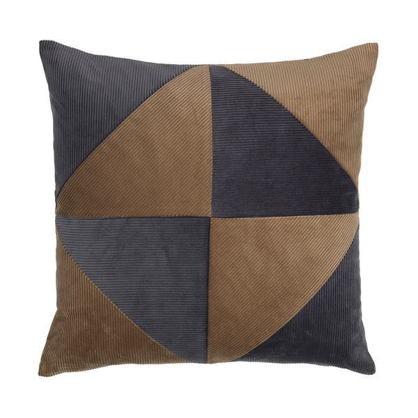 Corduroy Triangle Cushion Grey/Taupe