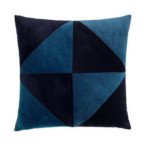 Corduroy Triangle Cushion Blue/Blue