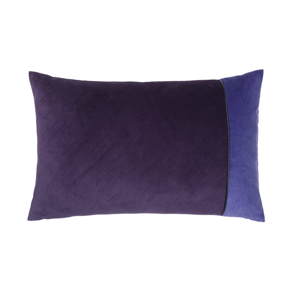 cushion in different shades of purple.