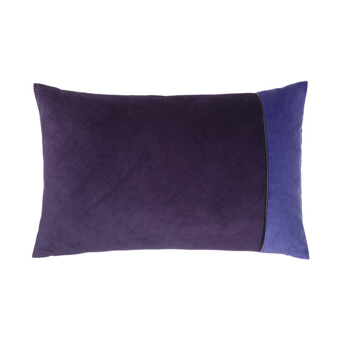 Corduroy Edge Cushion Purple/Purple