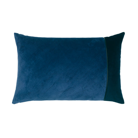 Corduroy Edge Cushion Blue/Blue