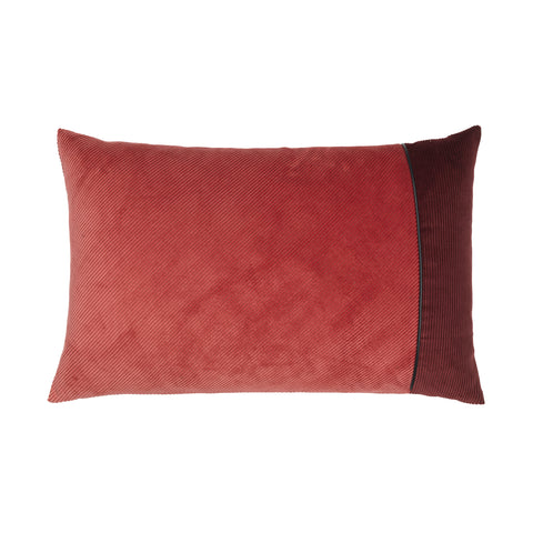 Corduroy Edge Cushion Pink/Bordeaux