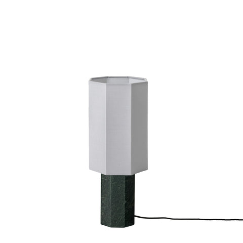 The Eight over Eight Marble Lamp Green