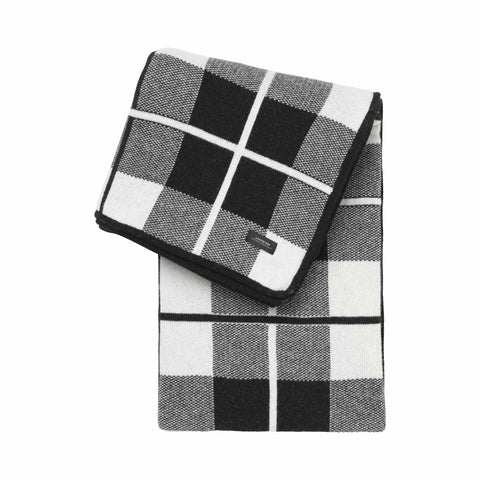 Sunday throw square Black White