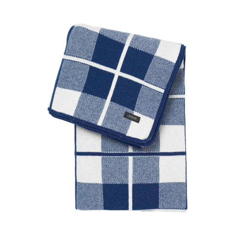 Sunday throw square Blue White