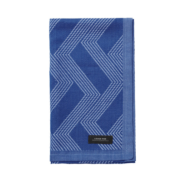 Organic tea towel cobalt