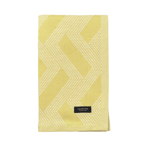 Organic tea towel gold