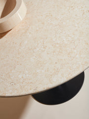 Roundabout Table Beige Marble Ø160