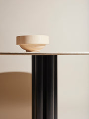 Roundabout Table Beige Marble Ø120