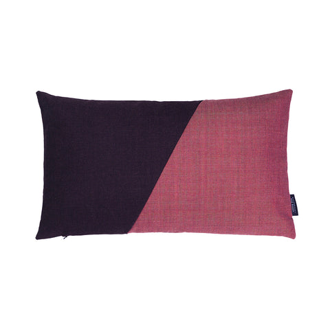 Little architect cushion with the color combination rose and purple.