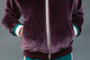 The Gabby Velvet Bomber in Plum Kids