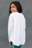 The Riley Blouse in White Kids